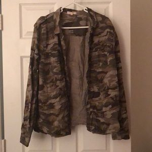 Tops - Army fatigue button up